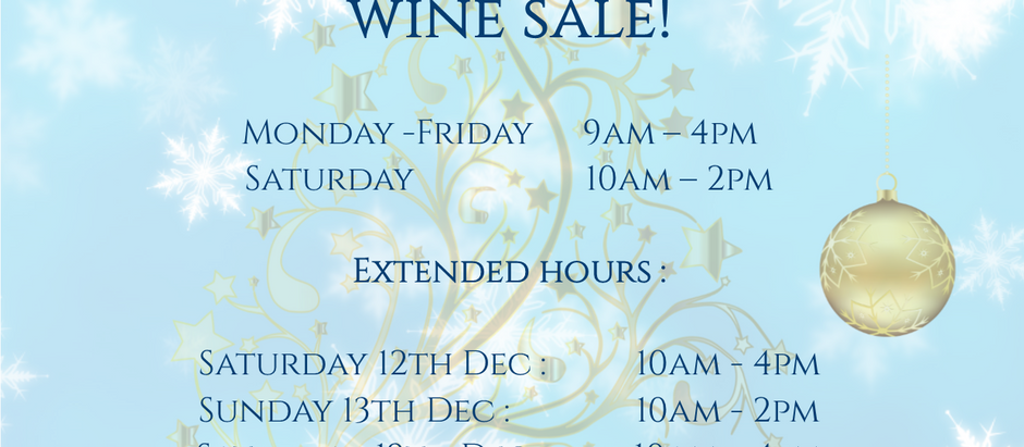Cellar Door Christmas Wine Sale!
