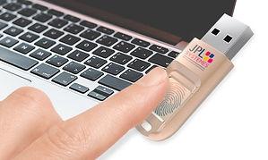 Sécurité avec la clé biométrique