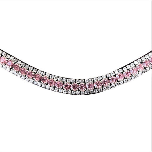 Baby Pink Crystal Browband--Cob & Full