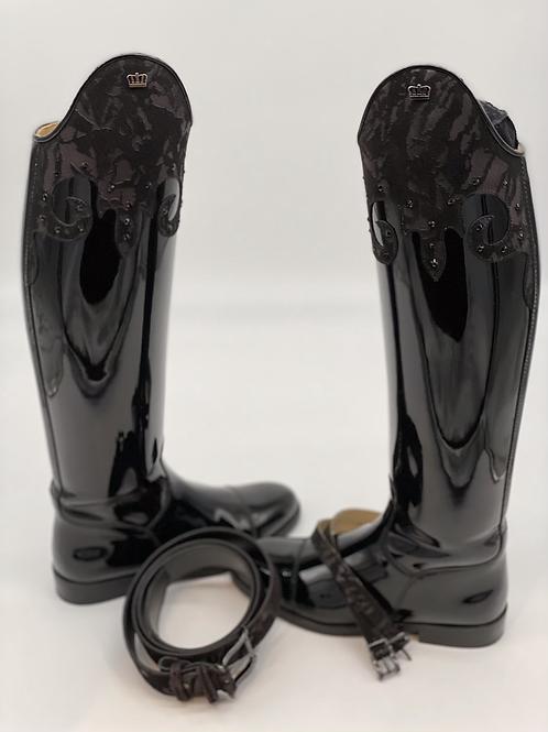 Capri Boot--Black Patent, size 38