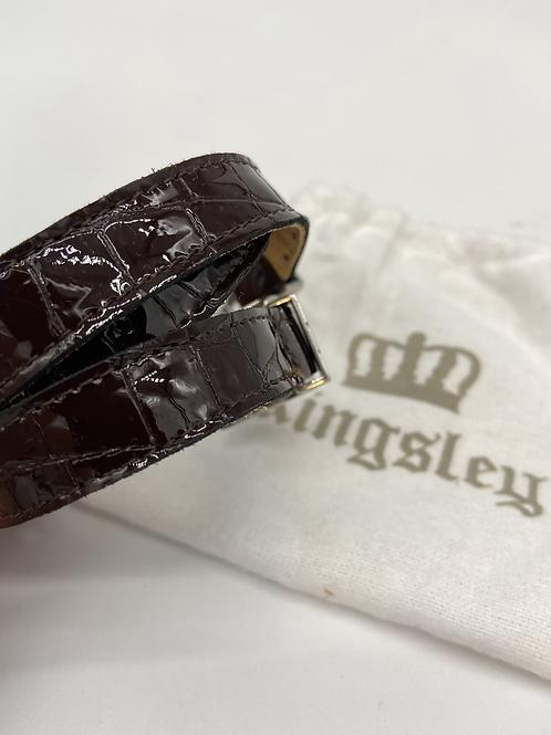 Bordeaux Croc Bril Kingsley Spur Straps