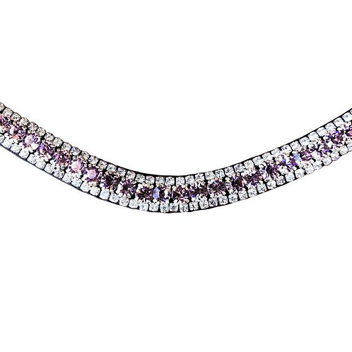 Lavender Crystal Browband--Cob & Full