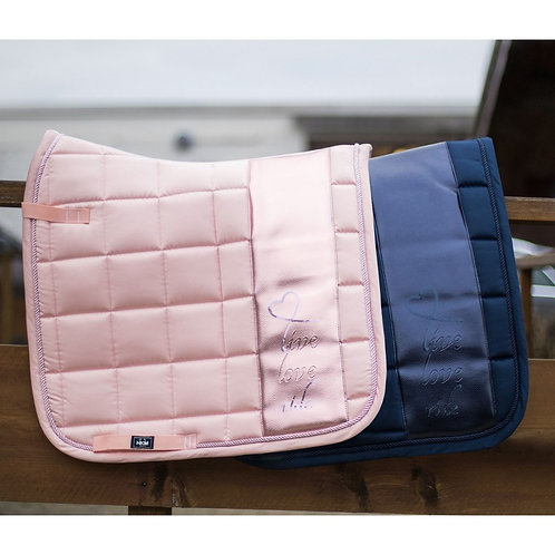 HKM-Metallic Live, Love, Ride Dressage Pad (2 colors)