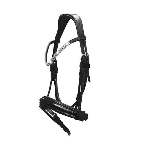 """Amie"" Rolled Italian Leather Snaffle Bridle"