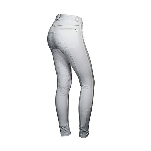 Mink Horse Breeches-Full Seat- Leaves with Power Grip (White)