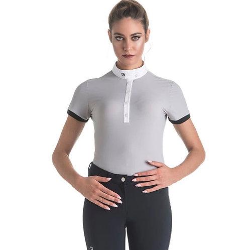 EGO7 Ladies Short Sleeve Polo Shirt, Ice Gray