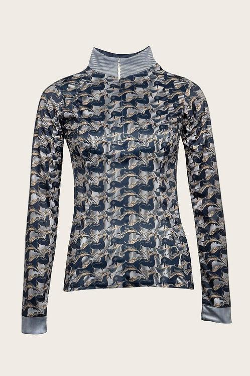 Espoir Sun Shirt--Running Horse Navy