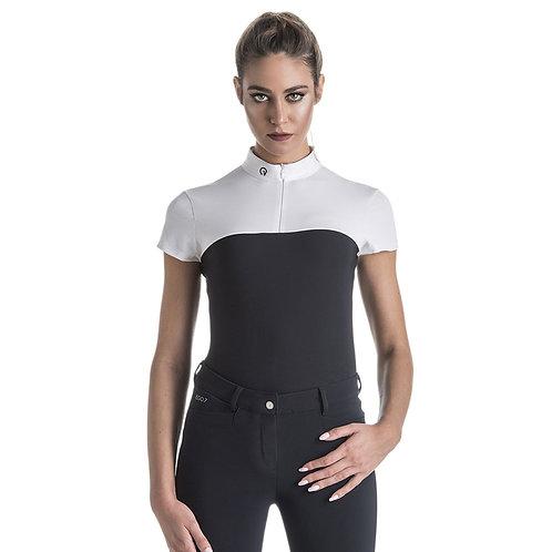 EGO7 Ladies Lace Short sleeve top, Black/White