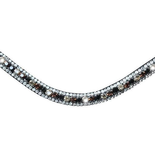 Amber Deep Wave Crystal Browband--Full, Brown