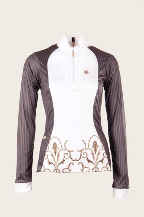 Espoir Sunshirt--Gray Pinstripe Show shirt