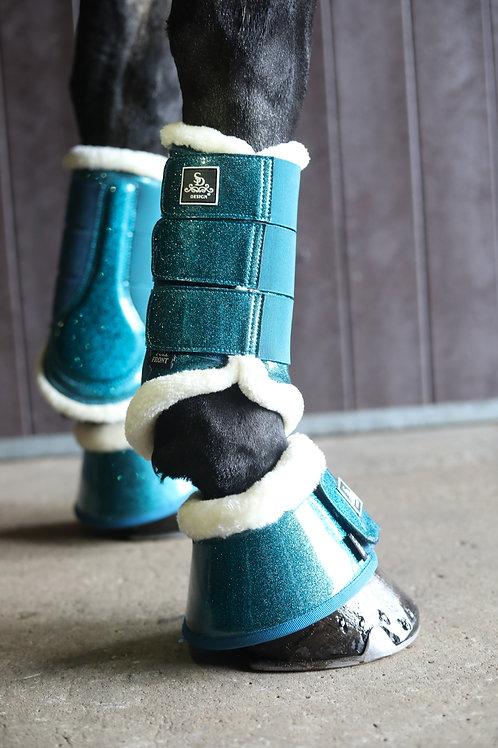 SD® Hollywood Glamorous dressage boots, Blue Lagoon Glitter