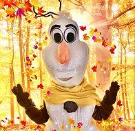Schneemann Olaf Maskottchen buchen