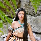 Pocahontas Indianer zum Geburtstag buchen