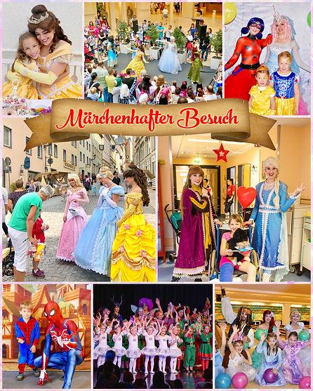 Märchenhafter Besuch - Prinzessinnen und Superhelden mieten