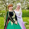 Eiskönigin Elsa und Anna zum Geburtstag buchen