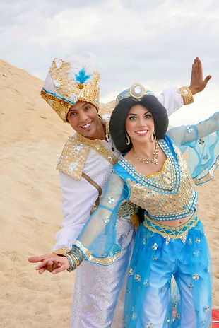 Prinzessin Jasmin und Aladdin für Kindergeburtstag buchen