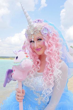 Prinzessin Einhörner Einhorn Animation für Kindergeburtstag buchen