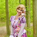 Prinzessin Rapunzel zum Geburtstag mieten