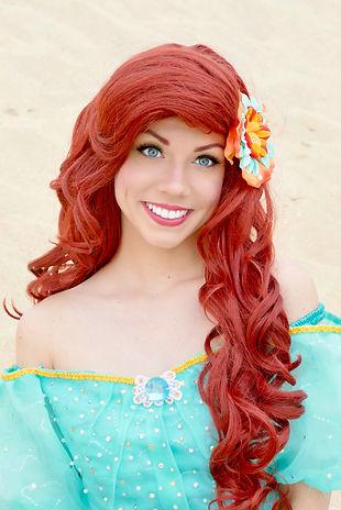Prinzessin Arielle die kleine Meerjungfrau für Kindergeburtstag buchen