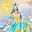 Einhorn Prinzessin zum Kindergeburtstag mieten