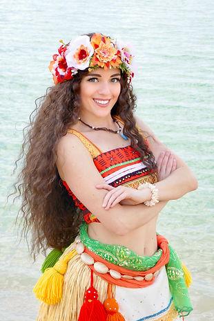 Prinzessin Vaiana für Kindergeburtstag buchen