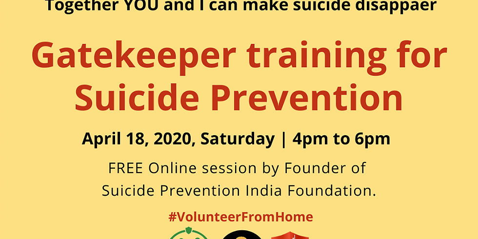 We Can Talk- Gatekeeper Suicide Prevention Awareness Session