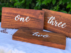 Timber Table Numbers