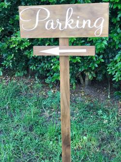 """""""Parking"""" sign"""