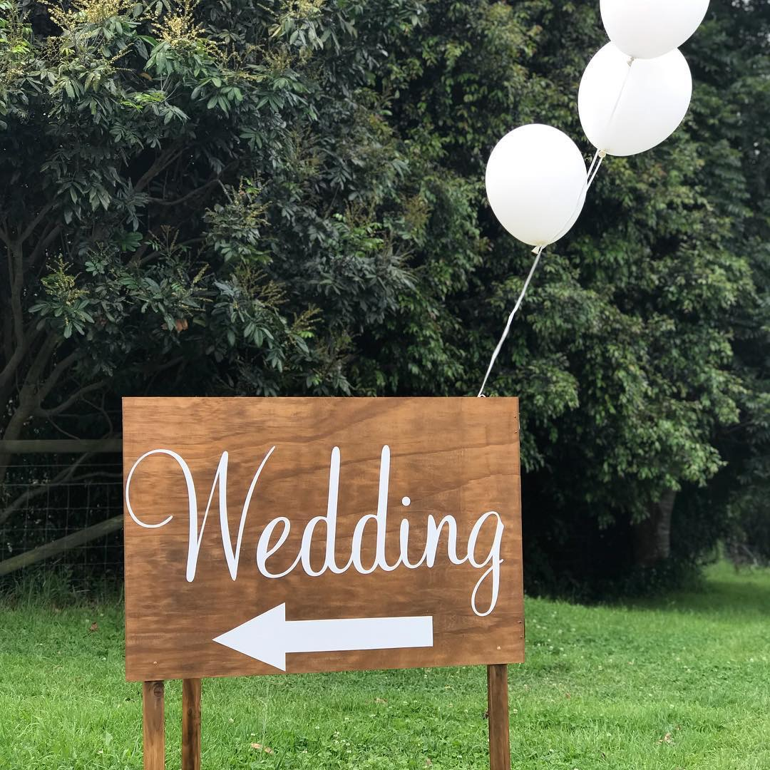 Wedding Entrance sign (hire)