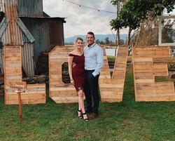Timber LOVE Sign