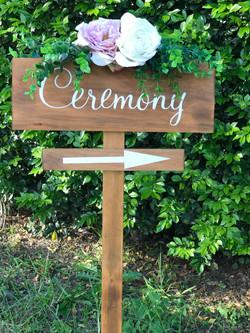 """Ceremony"" sign"