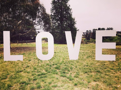 Large White LOVE Sign