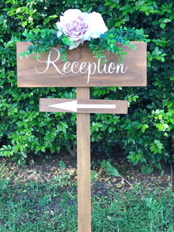 """Reception"" sign"