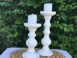 White Timber Candle Pillar