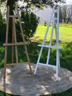 Timber / White Easels
