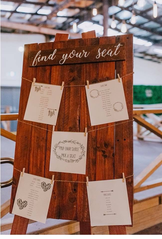 Find Your Seat Board (hire)
