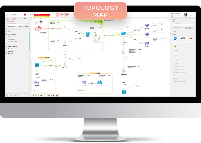 EyeOTmonito Topology Map Screen