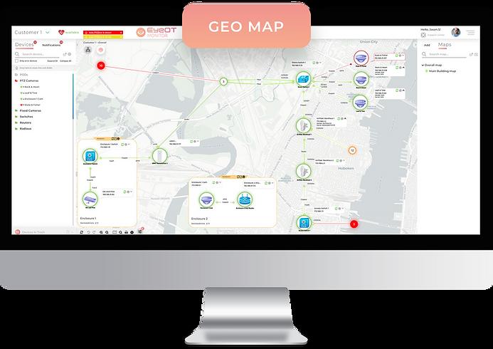 EyOTmonitr Geo Map Screen