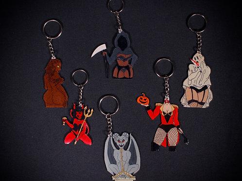 Spooky Hoe Keychain