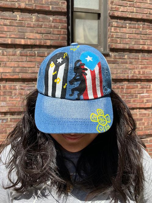 Kokopelli Denim Dad Hat