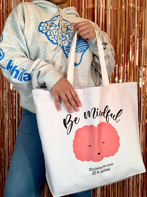 Be Mindful Large Canvas Tote