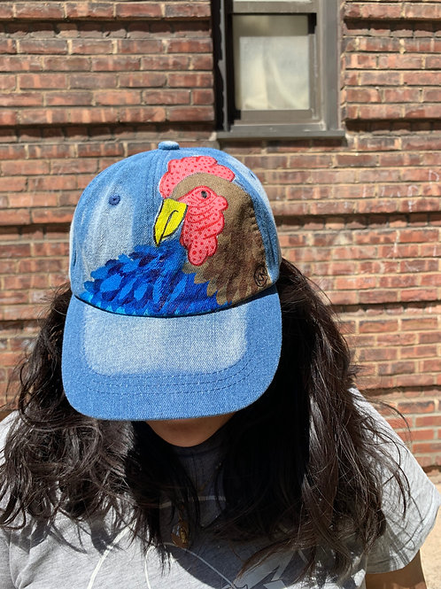 Rooster Denim Dad Hat