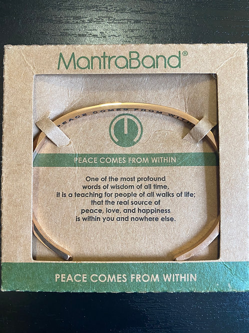 """""""Peace Comes From Within"""" MantraBand Bracelet"""