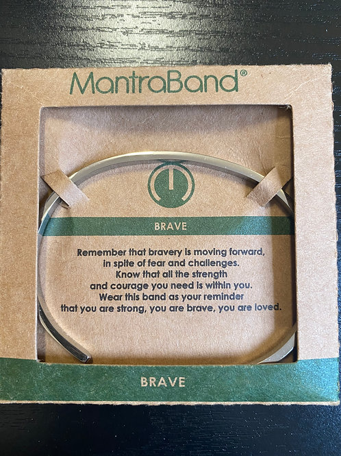 """Brave"" MantraBand Bracelet"