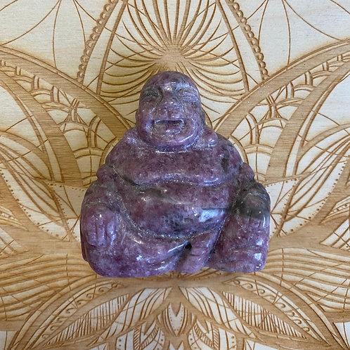 Lepidolite Buddha