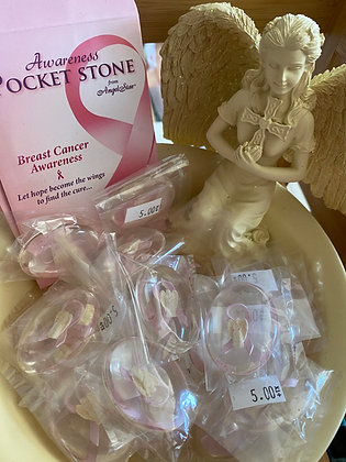 """Breast Cancer Awareness"" Rocket Stone"