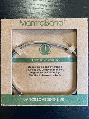 """""""Dance Love Sing Live"""" MantraBand Bracelet"""