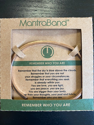 """Remember Who You Are"" MantraBand Bracelet"