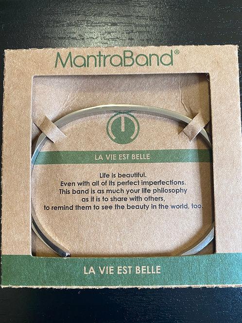 """""""La Vie Est Belle"""" MantraBand Bracelet"""