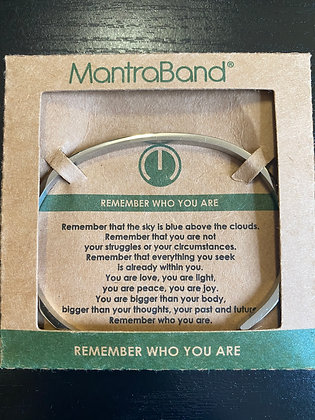 """""""Remember Who You Are"""" MantraBand Bracelet"""